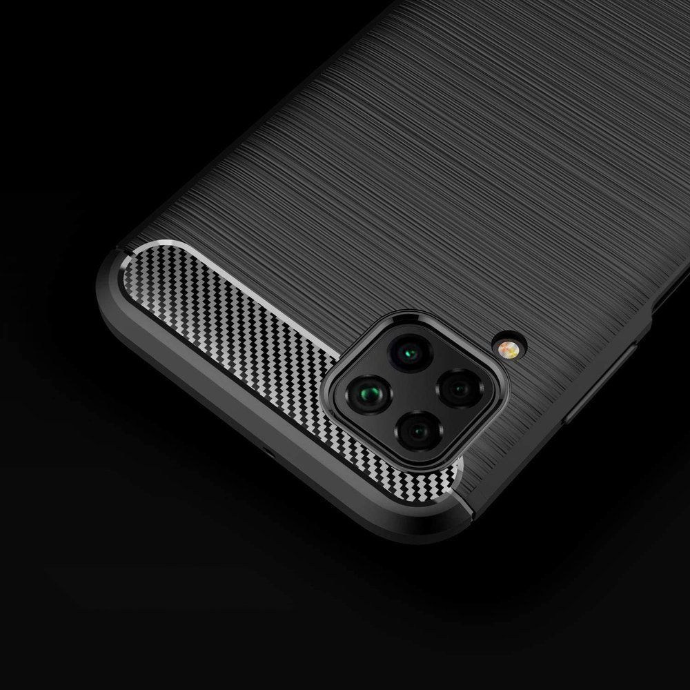 Husa Tpu Carbon Fibre pentru Huawei P40 Lite, Neagra