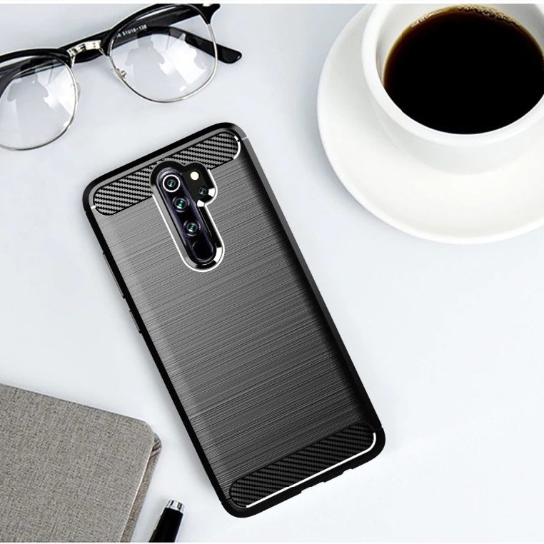 Husa Tpu Carbon Fibre pentru Xiaomi Redmi Note 8 Pro, Neagra