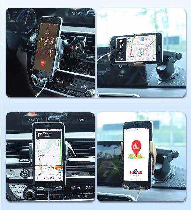 Suport Auto Simple Fast Automatic Cu Incarcare Wireless Pentru Grila De Ventilatie
