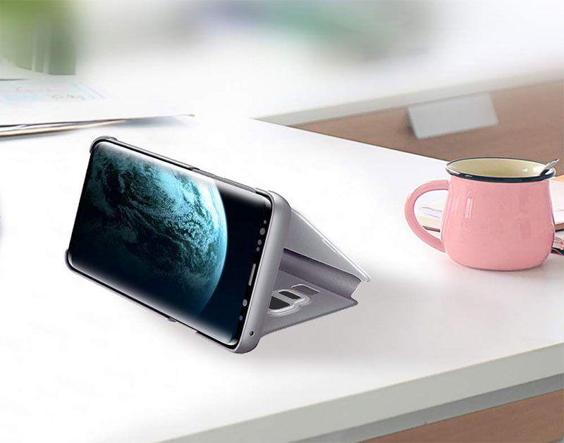 husa-flip-mirror-stand-argintiu