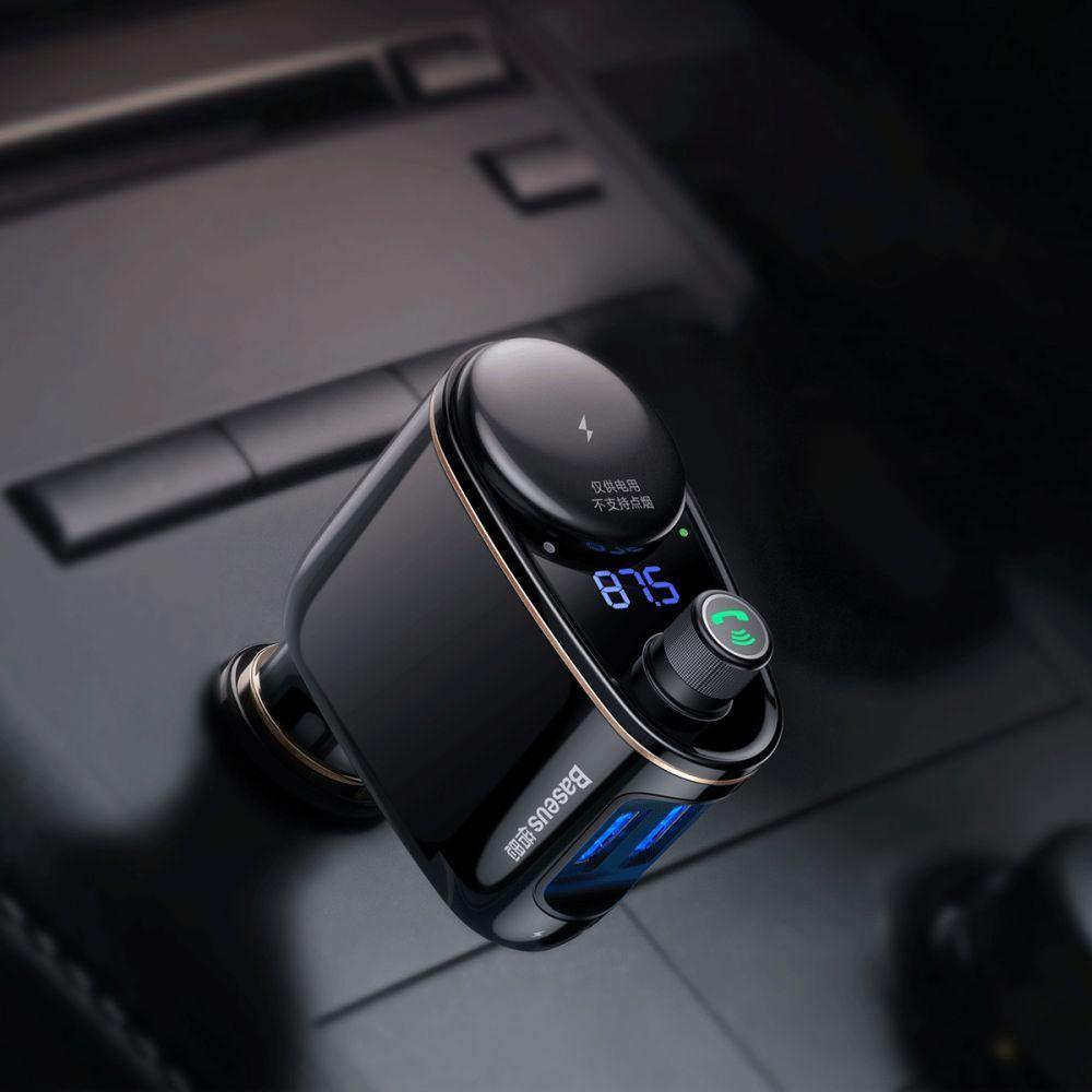 Incarcator Auto Modulator FM, Baseus S06 Bluetooth - 8