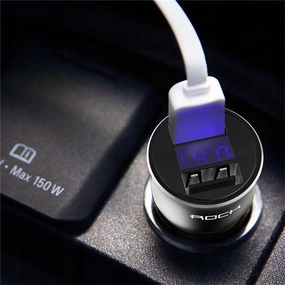 Incarcator Auto, Rock H2 Led, 2 x Usb 3.4A Fast Charge - 4
