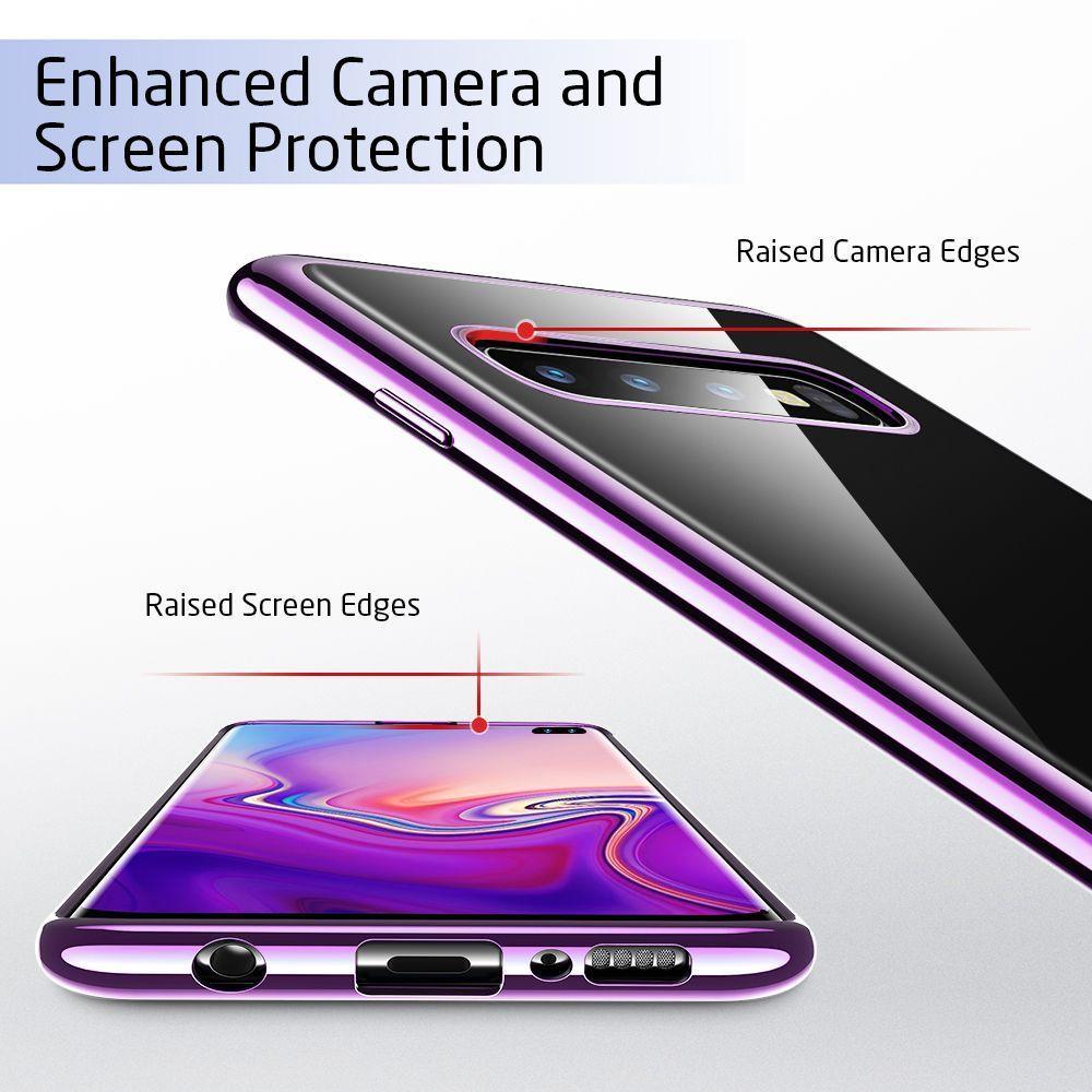 Husa de telefon, Esr Essential pentru Samsung S10+ Plus, Crystal Clear, Violet - 4