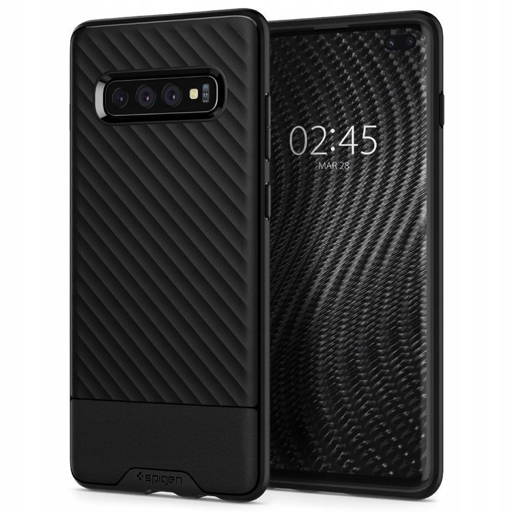 Husa Telefon Samsung S10+ Plus, Spigen Core Armor, Negru
