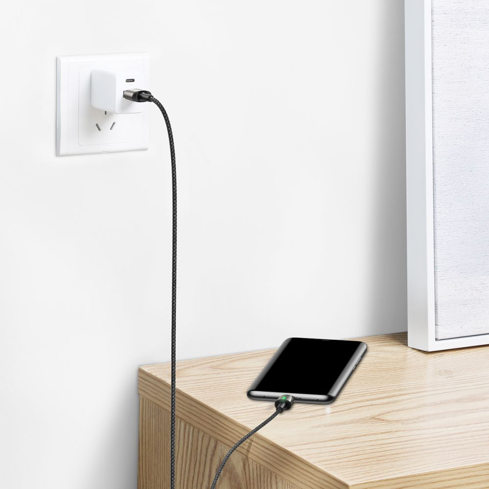 Cablu de date, incarcare, din zinc,magnetic, Baseus USB Type-C - 6
