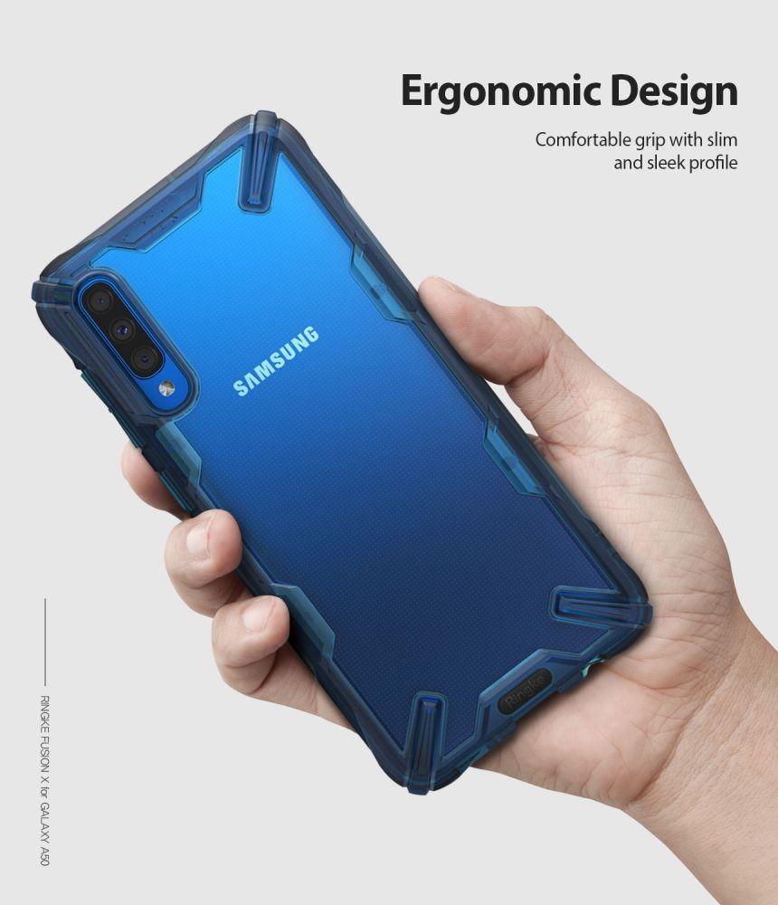 Husa Telefon Samsung A50, Ringke Fusion X, Space Blue - 6
