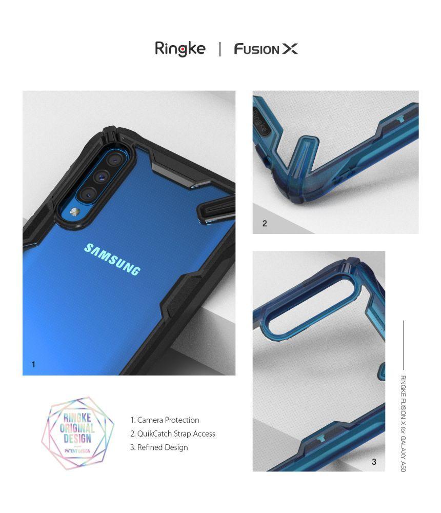 Husa Telefon Samsung A50, Ringke Fusion X, Space Blue - 8