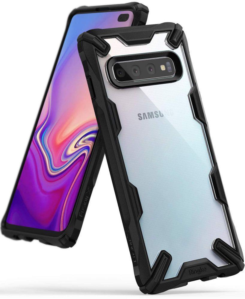 Husa Telefon Samsung S10+ Plus, Ringke Fusion X, Negru - 2