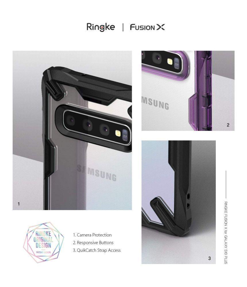 Husa Telefon Samsung S10+ Plus, Ringke Fusion X, Negru - 3