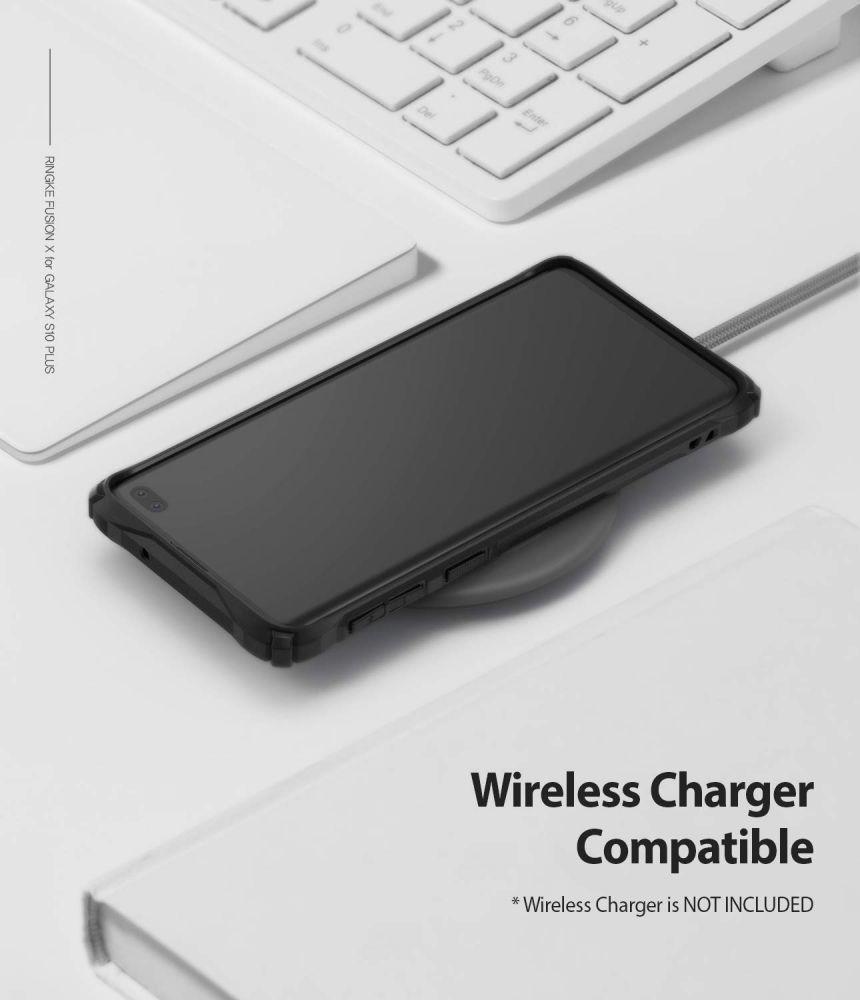 Husa Telefon Samsung S10+ Plus, Ringke Fusion X, Negru - 8