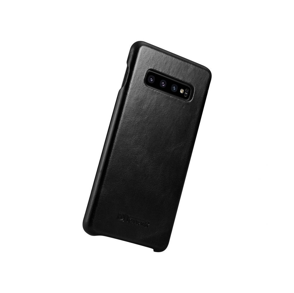 Husa Telefon Samsung S10+ Plus, Icarer Vintage Flip Piele Naturala, Negru - 3