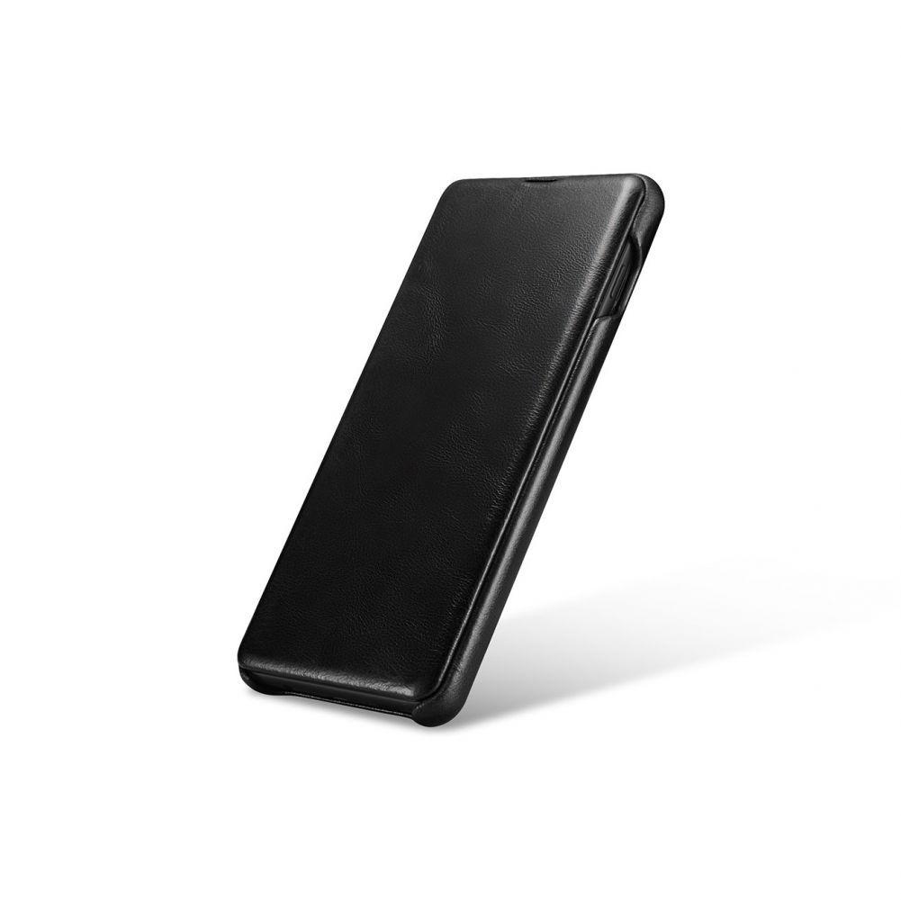 Husa Telefon Samsung S10+ Plus, Icarer Vintage Flip Piele Naturala, Negru - 4