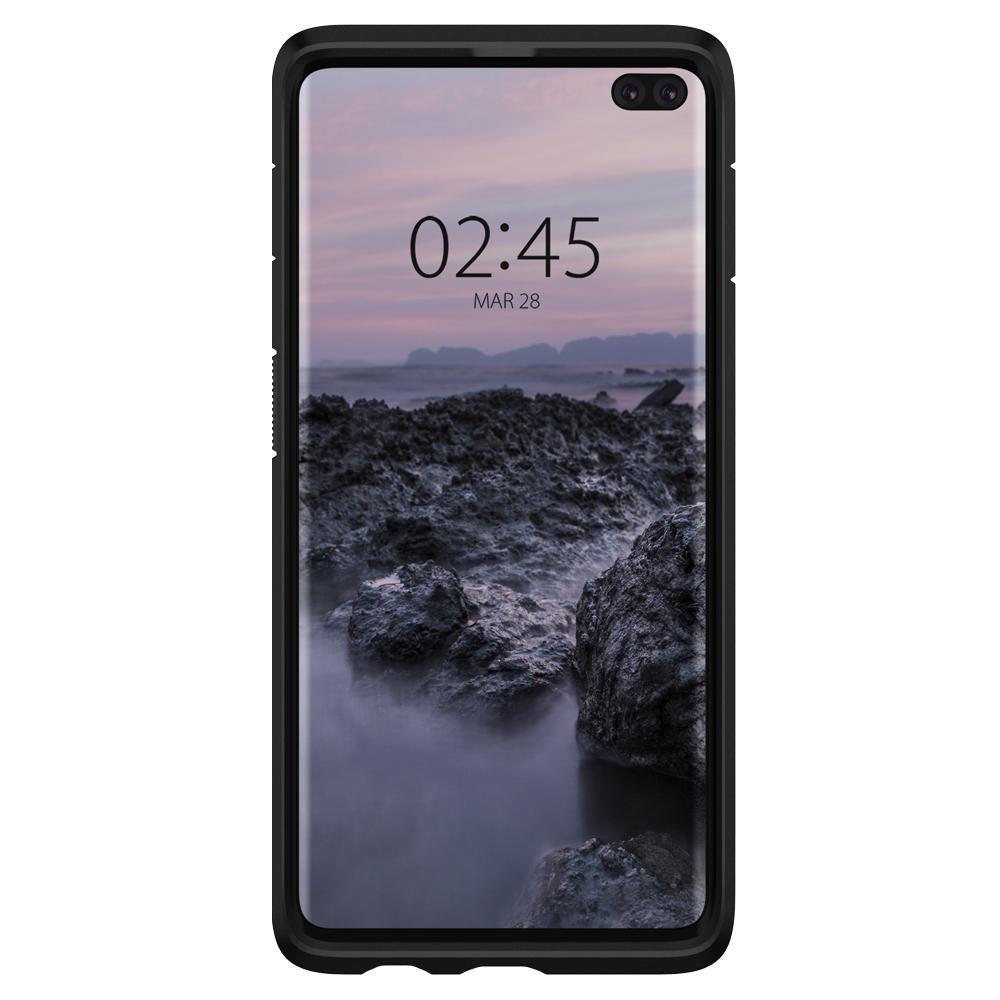 Husa Telefon Samsung S10+ Plus, Spigen Tough Armor, Negru - 6