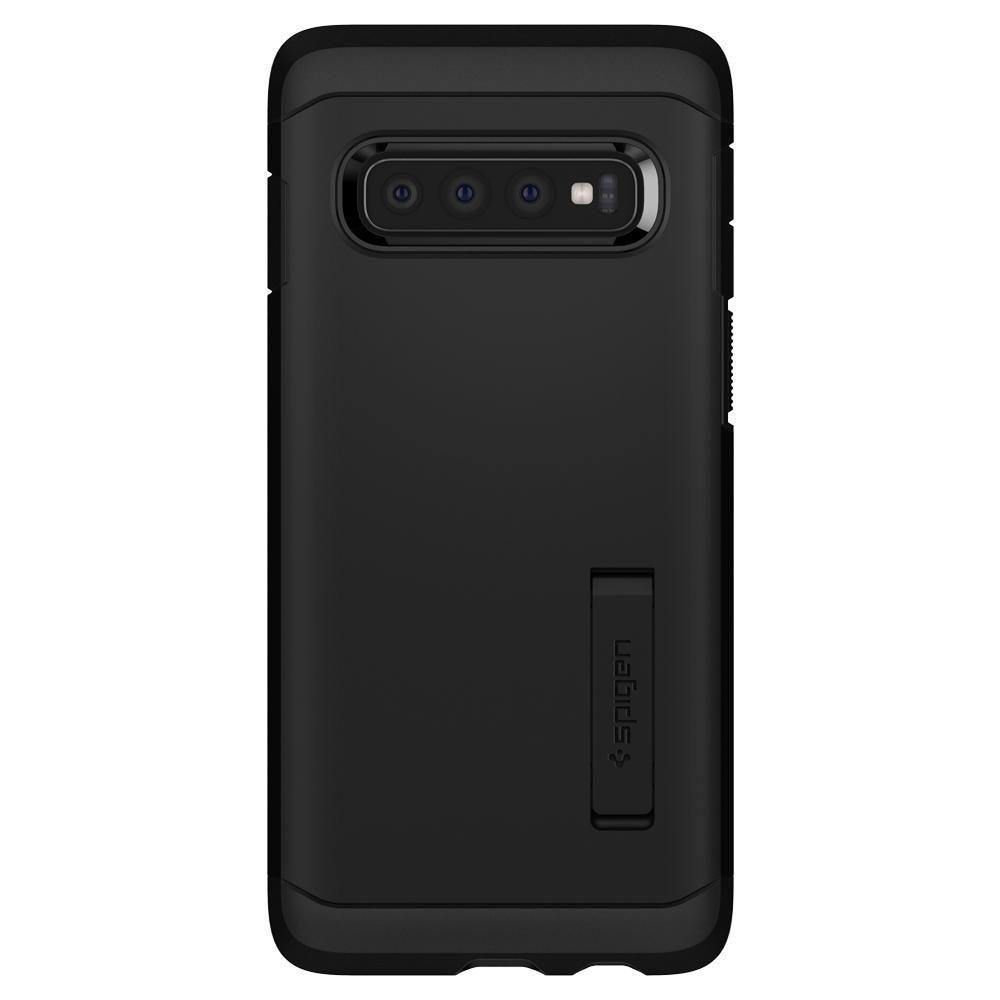 Husa Telefon Samsung S10+ Plus, Spigen Tough Armor, Negru - 7