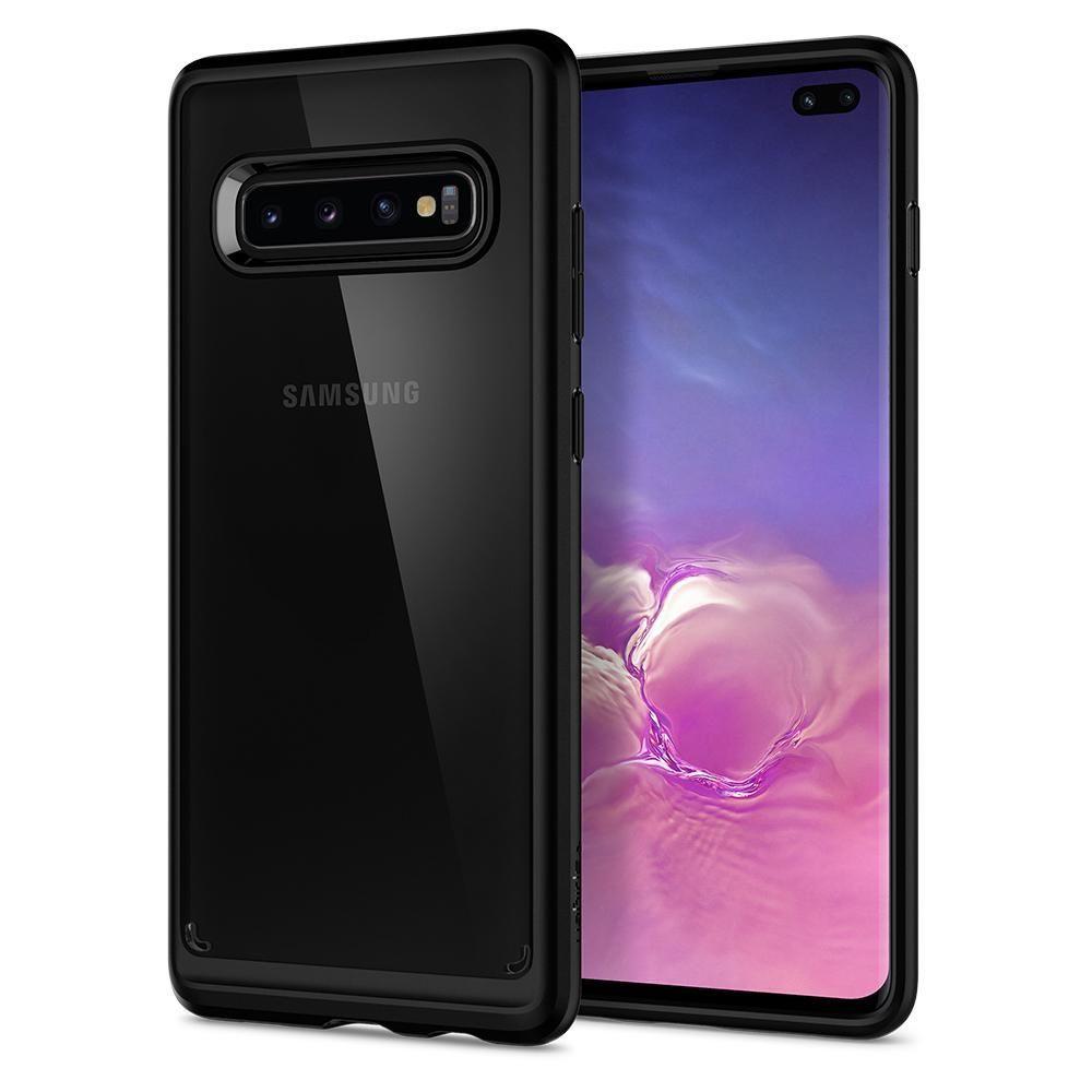 Husa Telefon Samsung S10+ Plus, Spigen Ultra Hybrid, Negru - 8