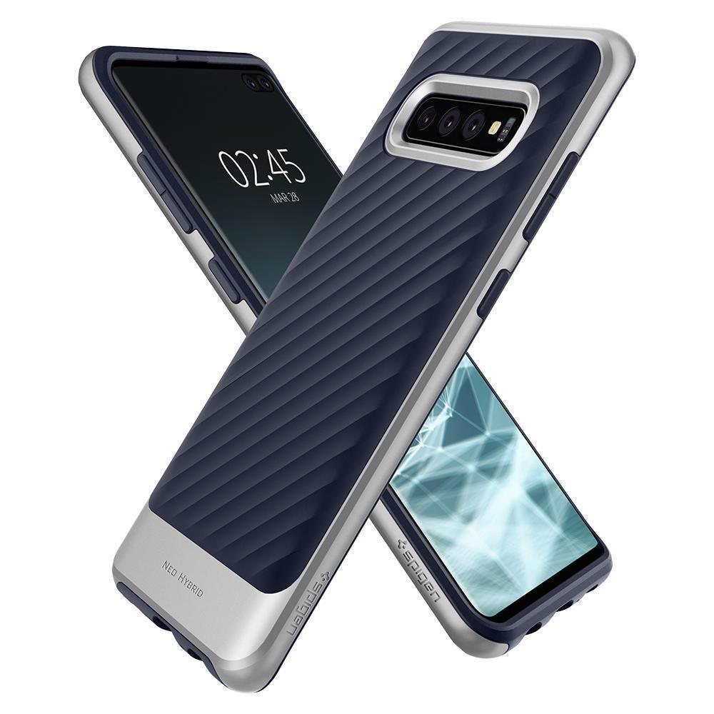Husa Telefon Samsung S10+ Plus, Spigen Neo Hybrid, Artic Silver - 3