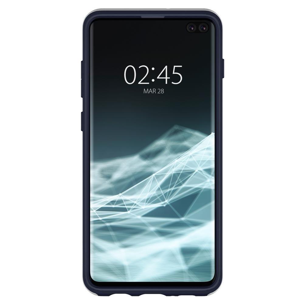 Husa Telefon Samsung S10+ Plus, Spigen Neo Hybrid, Artic Silver - 5