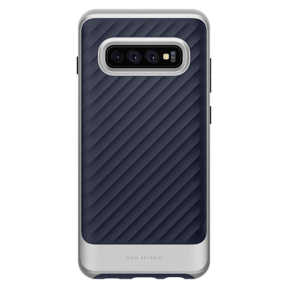 Husa Telefon Samsung S10+ Plus, Spigen Neo Hybrid, Artic Silver - 6