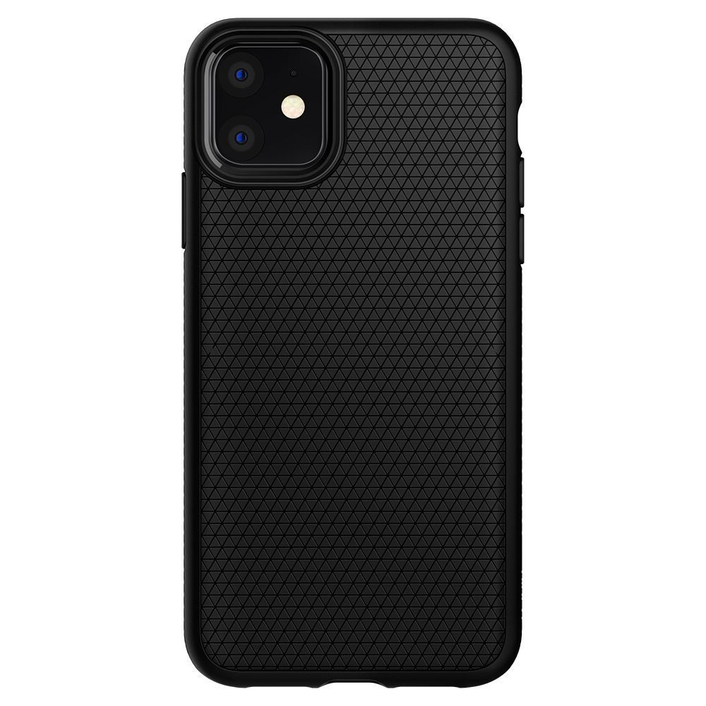 Husa Telefon iPhone 11 XI, Spigen Liquid Air, Matte Black - 2
