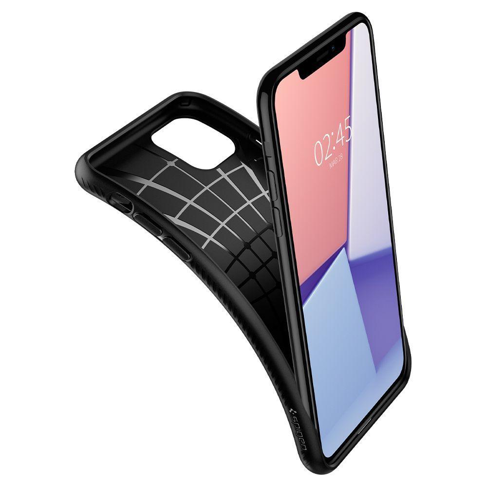 Husa Telefon iPhone 11 XI, Spigen Liquid Air, Matte Black - 5