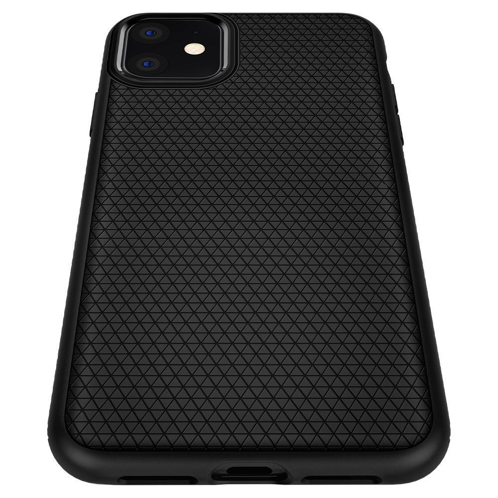 Husa Telefon iPhone 11 XI, Spigen Liquid Air, Matte Black - 6