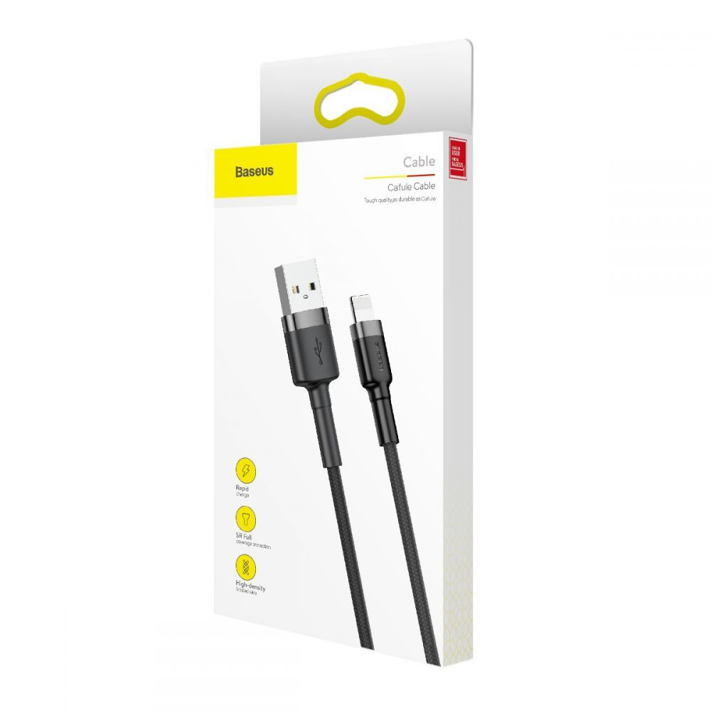 PrimeShop.ro - BASEUS CAFULE LIGHTNING CABLE 50CM GREY / BLACK