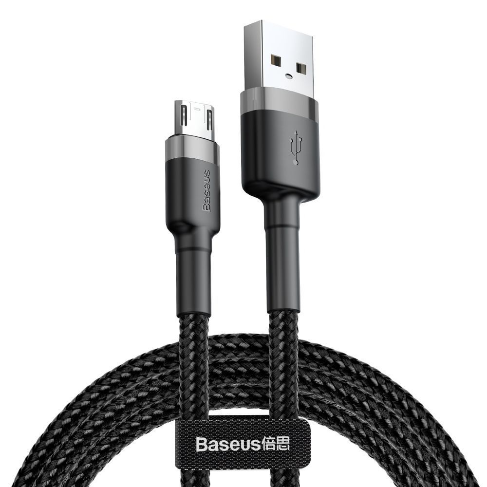 PrimeShop.ro - CABLU DE BASEUS MICRO-USB CABLE 100CM GRIS / NEGRU