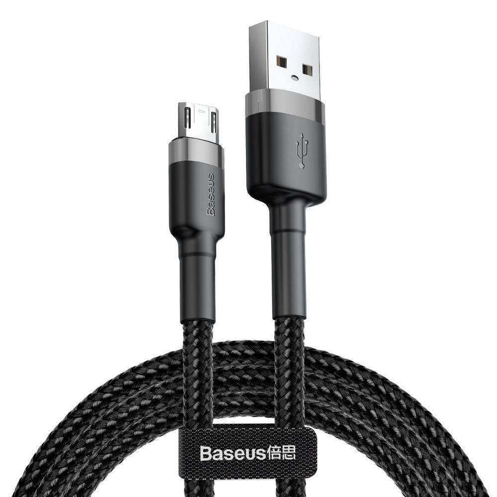 PrimeShop.ro - CABLU DE BASEUS MICRO-USB CABLE 200CM GRIS / NEGRU