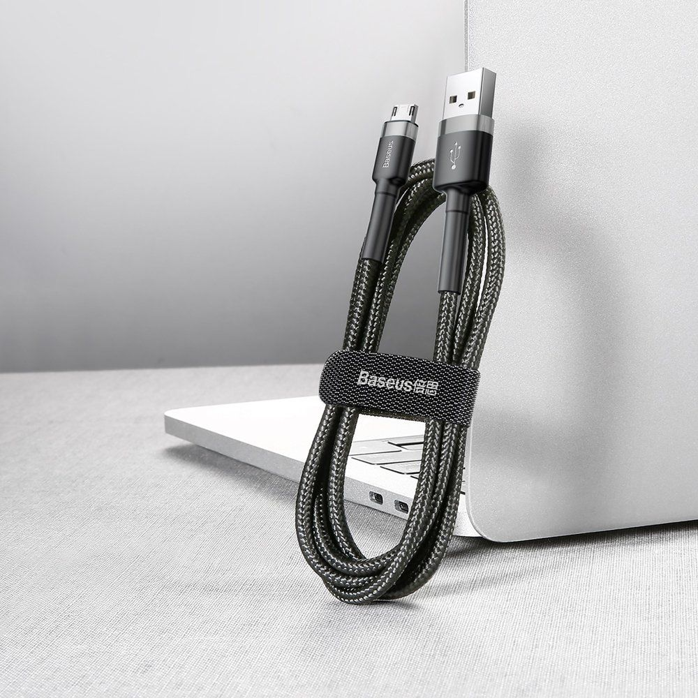 PrimeShop.ro - CABLU DE BASEUS MICRO-USB CABLE 300CM GRIS / NEGRU