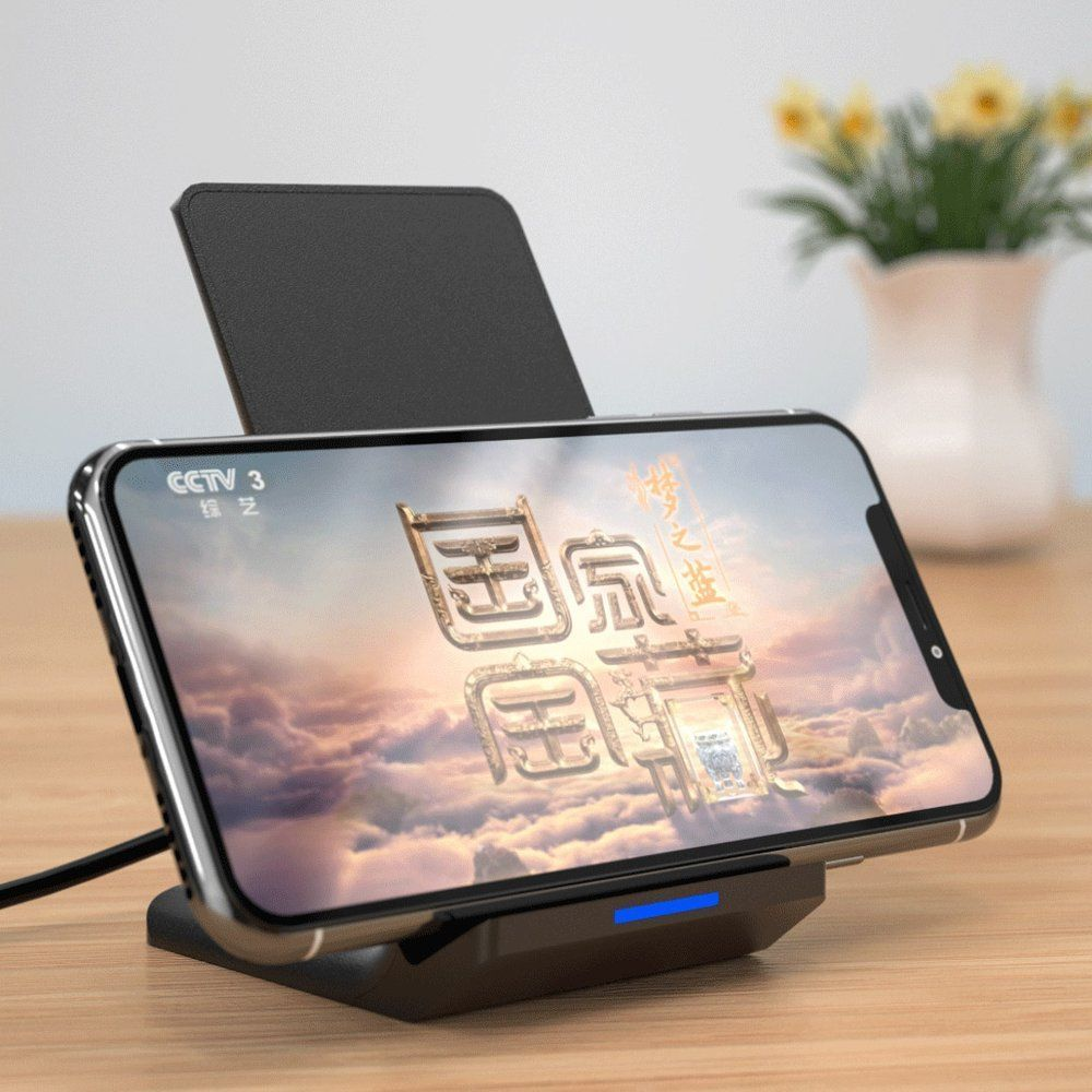 Incarcator Wireless de birou 10w, cablu MicroUsb inclus, Wekome WP-U84, Negru