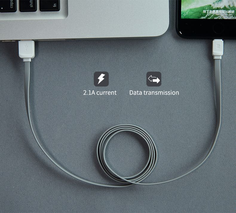 PrimeShop.ro - ROCK MICRO-USB CABLE 100CM GREY