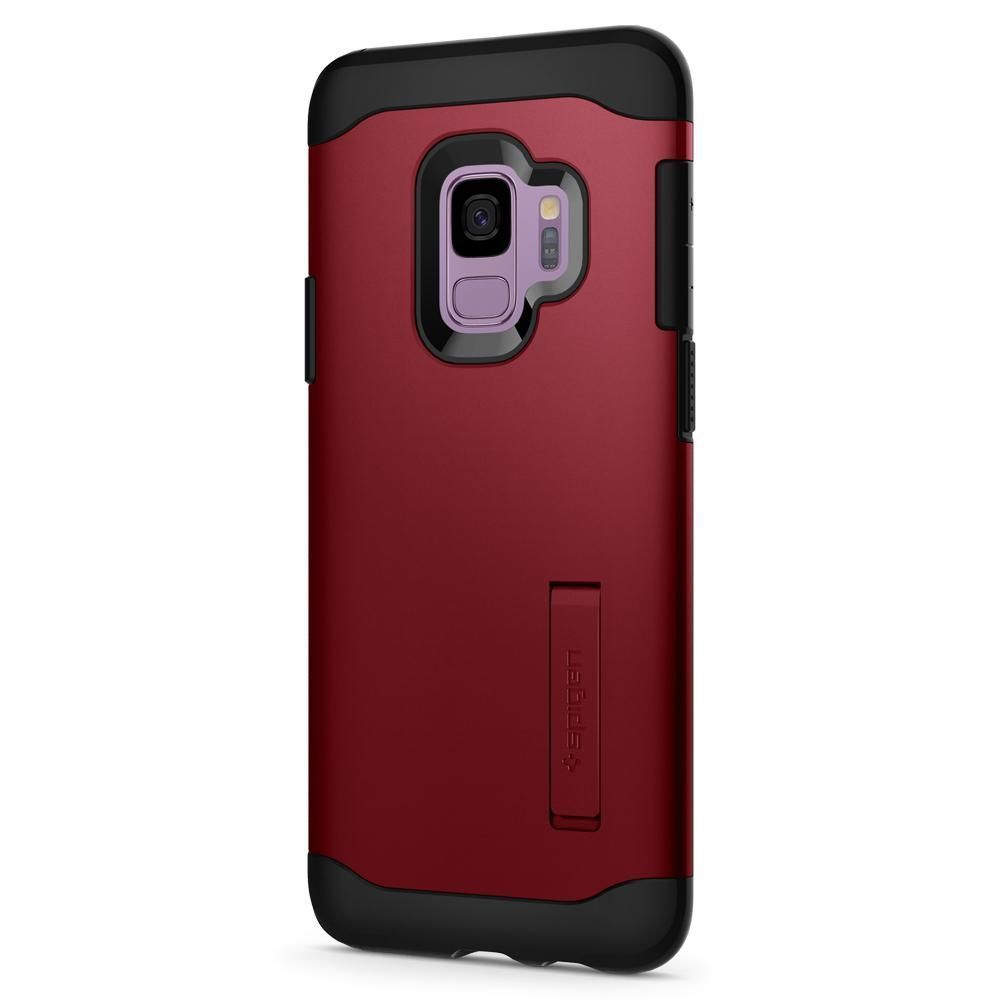 PrimeShop.ro - SPIGEN SLIM ARMOR GALAXY S9 MERLOT RED