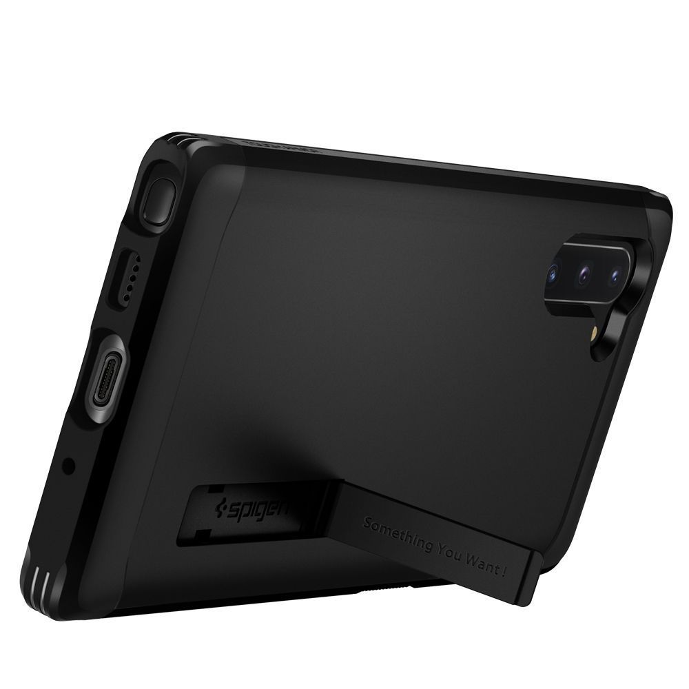 PrimeShop.ro - SPIGEN TOUGH ARMOR GALAXY NOTĂ 10 NEGRU
