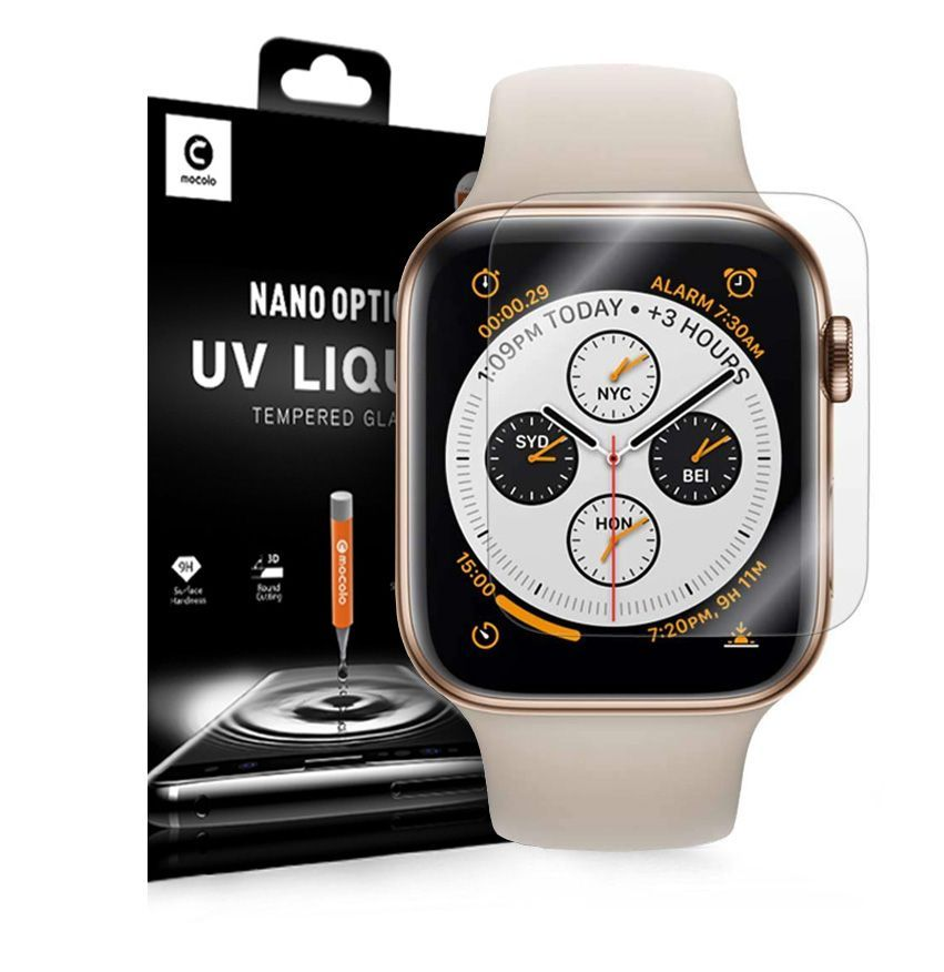 PrimeShop.ro - MOCOLO UV TEMPERED UV WATCH APPLE 4/5 (44MM) CLEAR