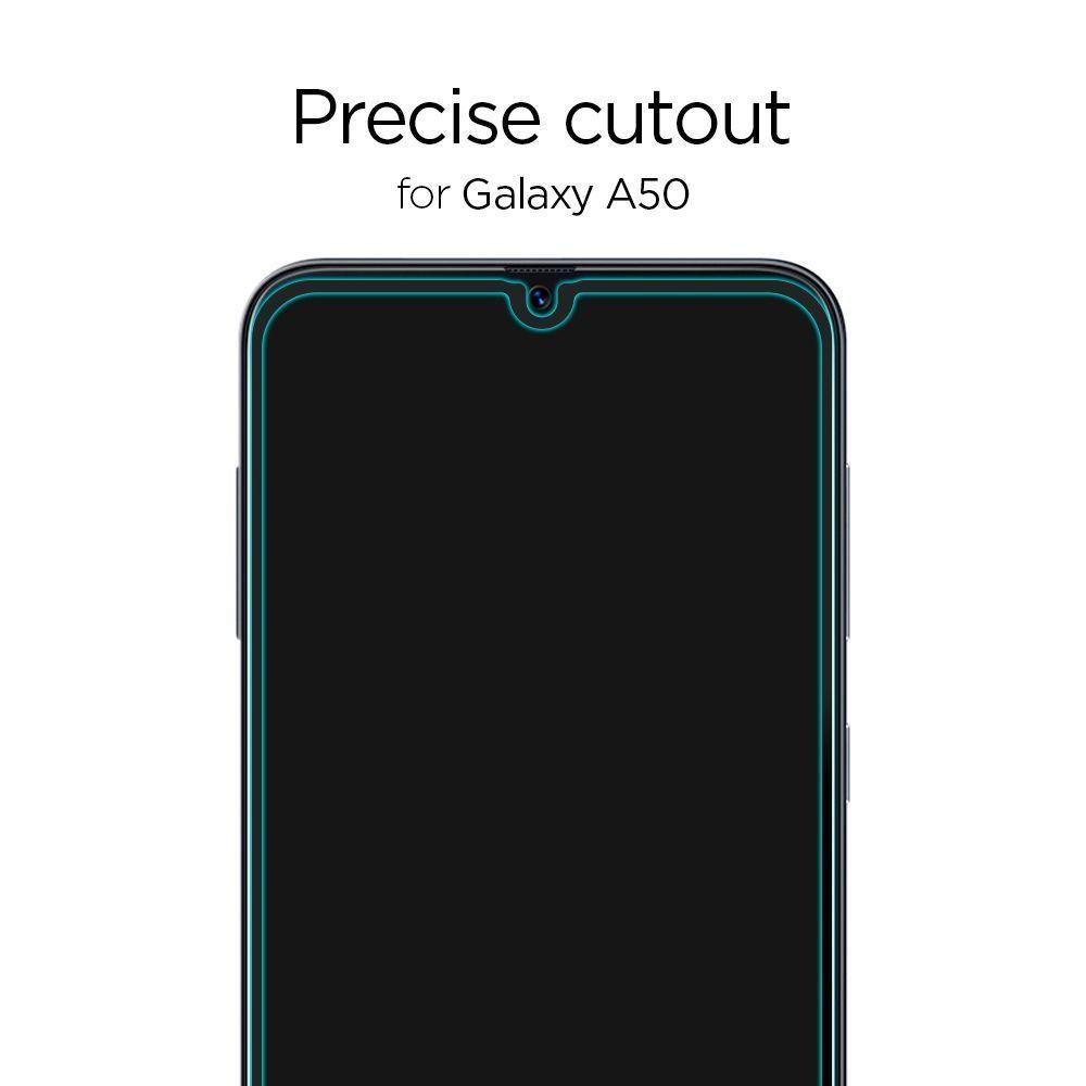 PrimeShop.ro - STICLA TEMPERATA SPIGEN GLASS FC GALAXY A50 / A30S BLACK