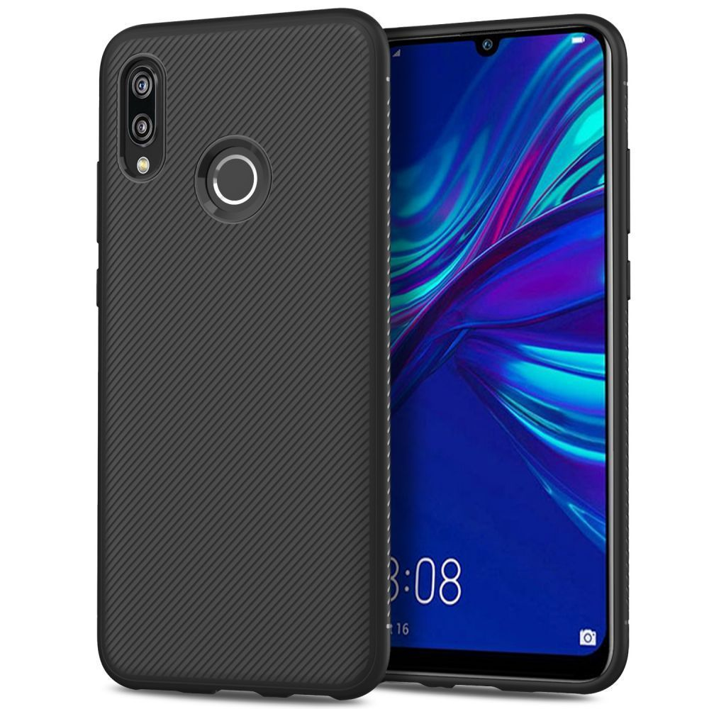 PrimeShop.ro - TECH-PROTECT SMOOTHCASE HUAWEI P SMART 2019 NEGRU