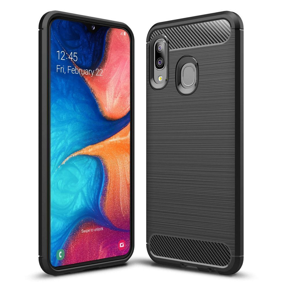 PrimeShop.ro - TECH-PROTECT TPUCARBON GALAXY A10 NEGRU