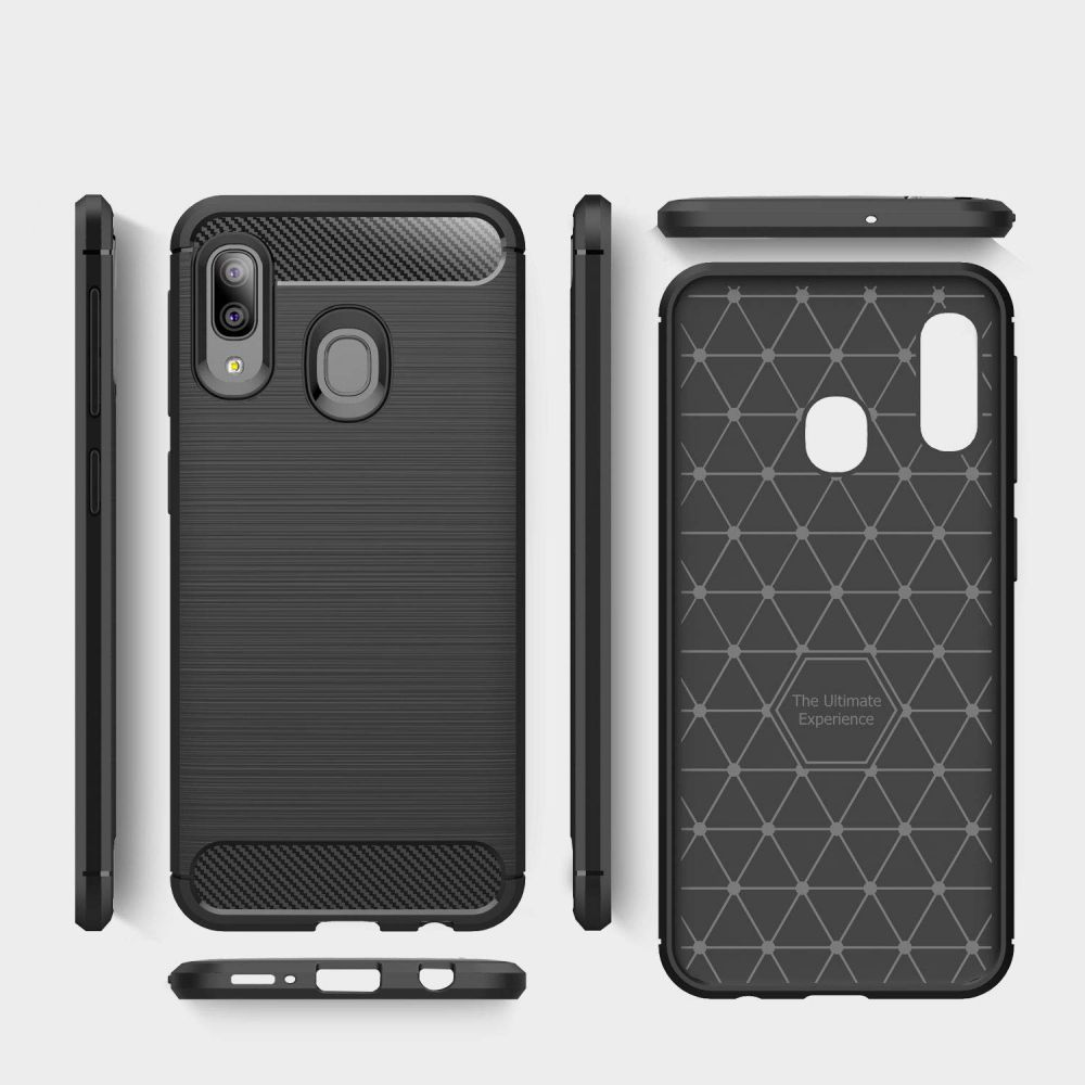 PrimeShop.ro - TECH-PROTECT TPUCARBON GALAXY A20E BLACK