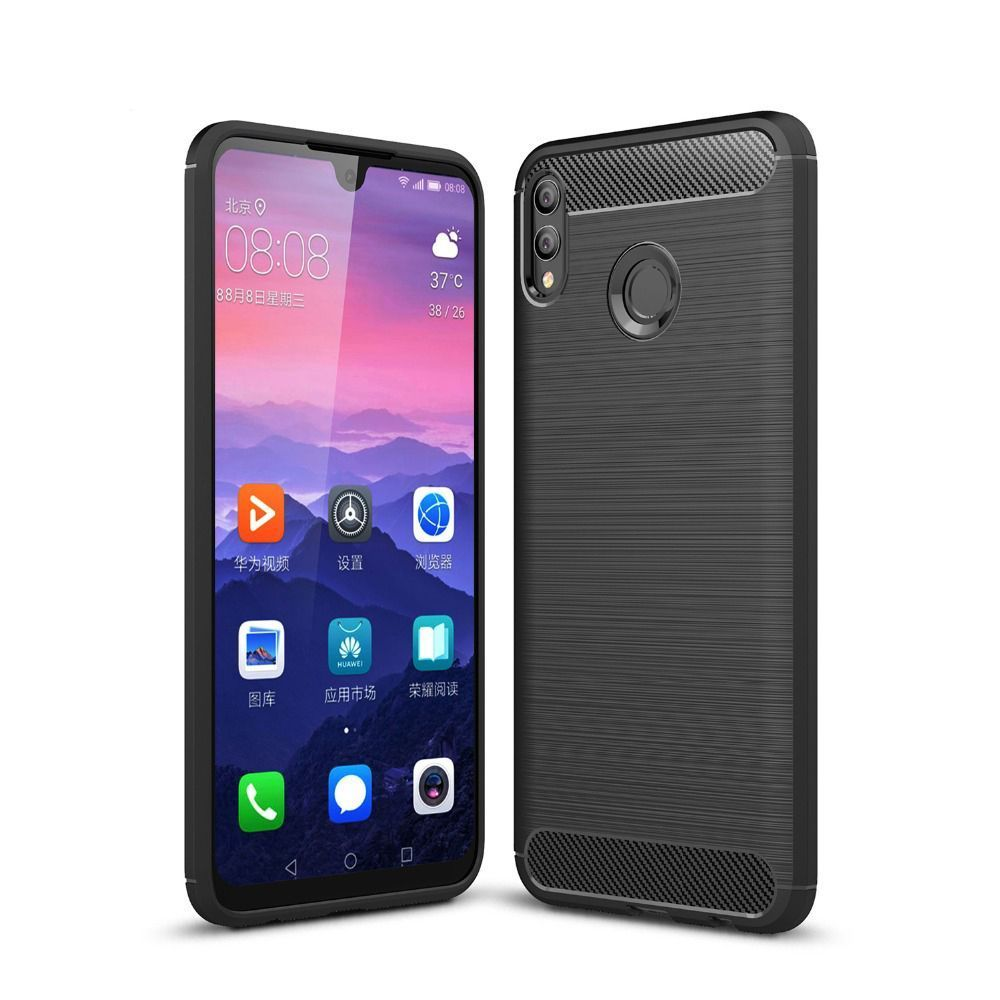 PrimeShop.ro - TECH-PROTECT TPUCARBON HUAWEI P SMART 2019 NEGRU